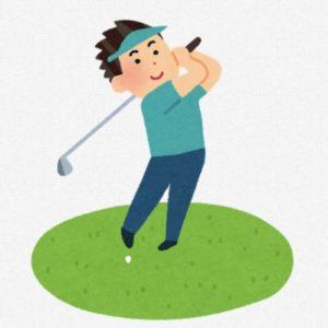 ゴルフをする人